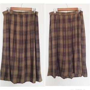Dresses & Skirts - 4 for $25 olive green plaid midi skirt